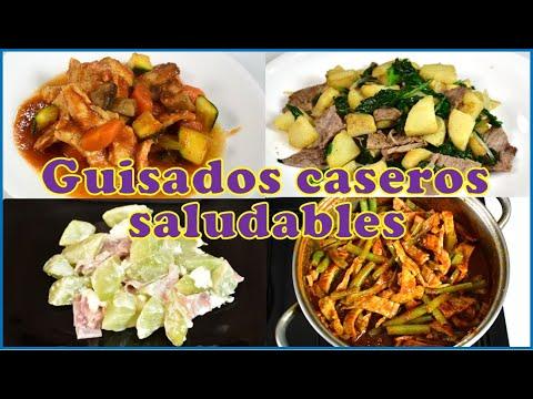 Seguimos con la dieta, GUISADOS CASEROS SALUDABLES, medio menú semanal