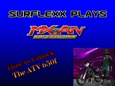 MX vs ATV SUPERCROSS  ATV 650f  (How to Unlock)