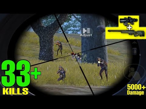 AWM + 8X FASTEST HEADSHOT EVER! | 33+ KILLS SOLO VS SQUAD | PUBG MOBILE