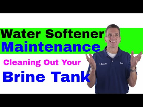 Water Softener Maintenance Cleaning Out Your Brine Tank