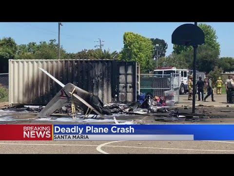 Pilot Killed After Small Plane Crashes At Santa Maria School After Departing Van Nuys