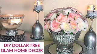 Dollar Tree DIY Glam Home Decor #dollartreehomedecor #homedecorideas #homedecordiy #dollartreediy