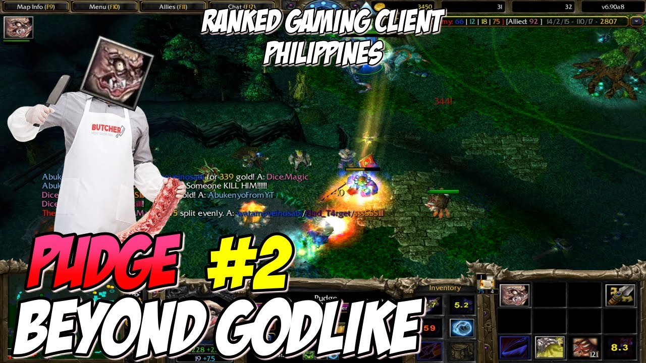 Download DOTA 1 Pudge/Butcher #2 BEYOND GODLIKE | Ranked Gaming Client | RGC | Philippines