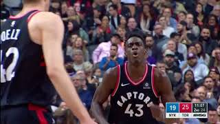 Pascal Siakam and Jakob Poeltl two-man game