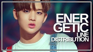 Wanna one (워너원) - energetic : line distribution (color coded)