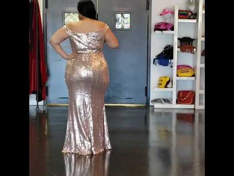 4451b22eaf9 GOLD JOSEPHINE SEQUIN GOWN - YouTube