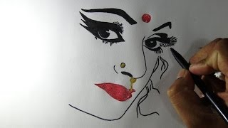 Video How to draw the most beautiful woman face download MP3, 3GP, MP4, WEBM, AVI, FLV Juli 2018