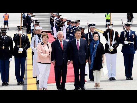 Chinese President Xi Jinping arrives in US for first meeting with Trump