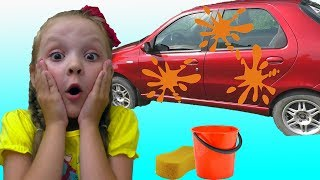 Wash Car Song | Lisa Pretend Play Sing-Along Nursery Rhymes & Kids Songs