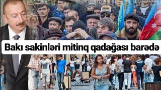 """""""İcazəli-icazəsiz inqilab eləmək lazımdır"""" - Bakı sakinləri - mitinq"""