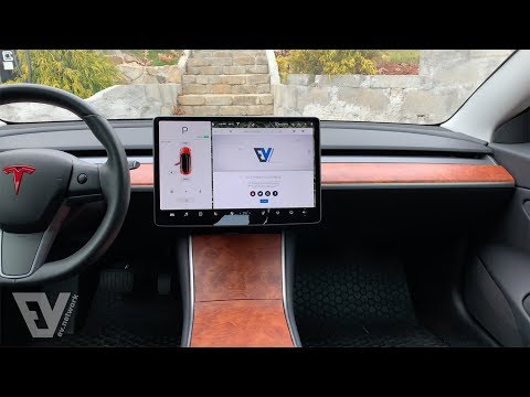 Removing and wrapping the dashboard in the Tesla Model 3