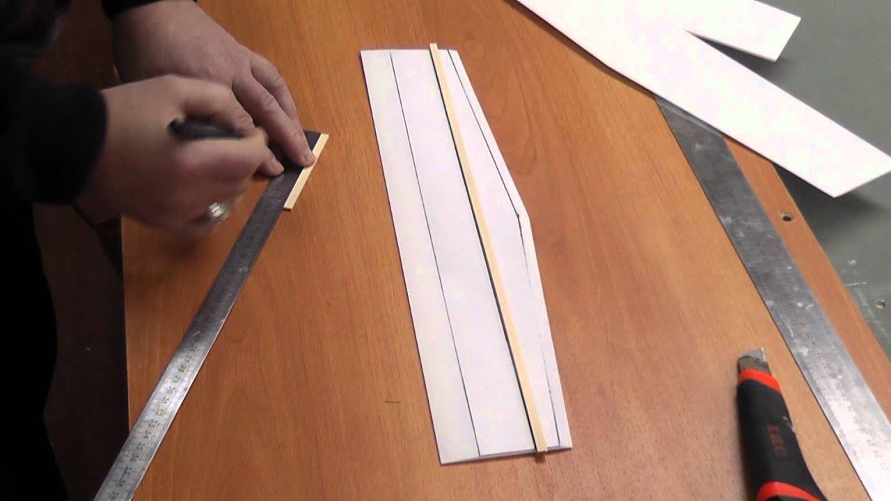 схема планера из пенопласта