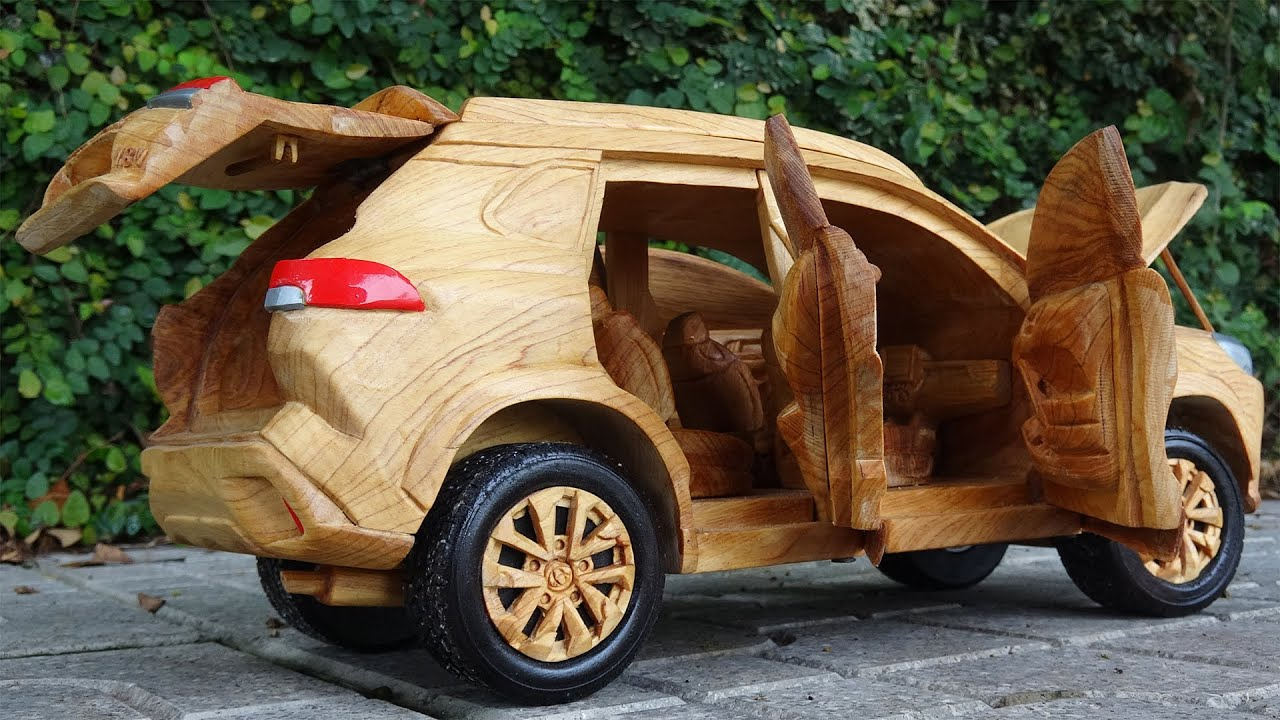 Toyota Cross 2021 - How to make Wooden Cars - Wood Carving