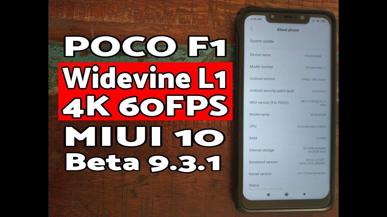Poco F1 MIUI 10 Beta 9 3 1