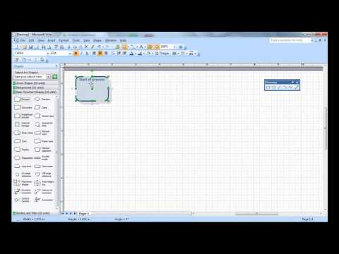 Creating Simple Visio Flow Chart