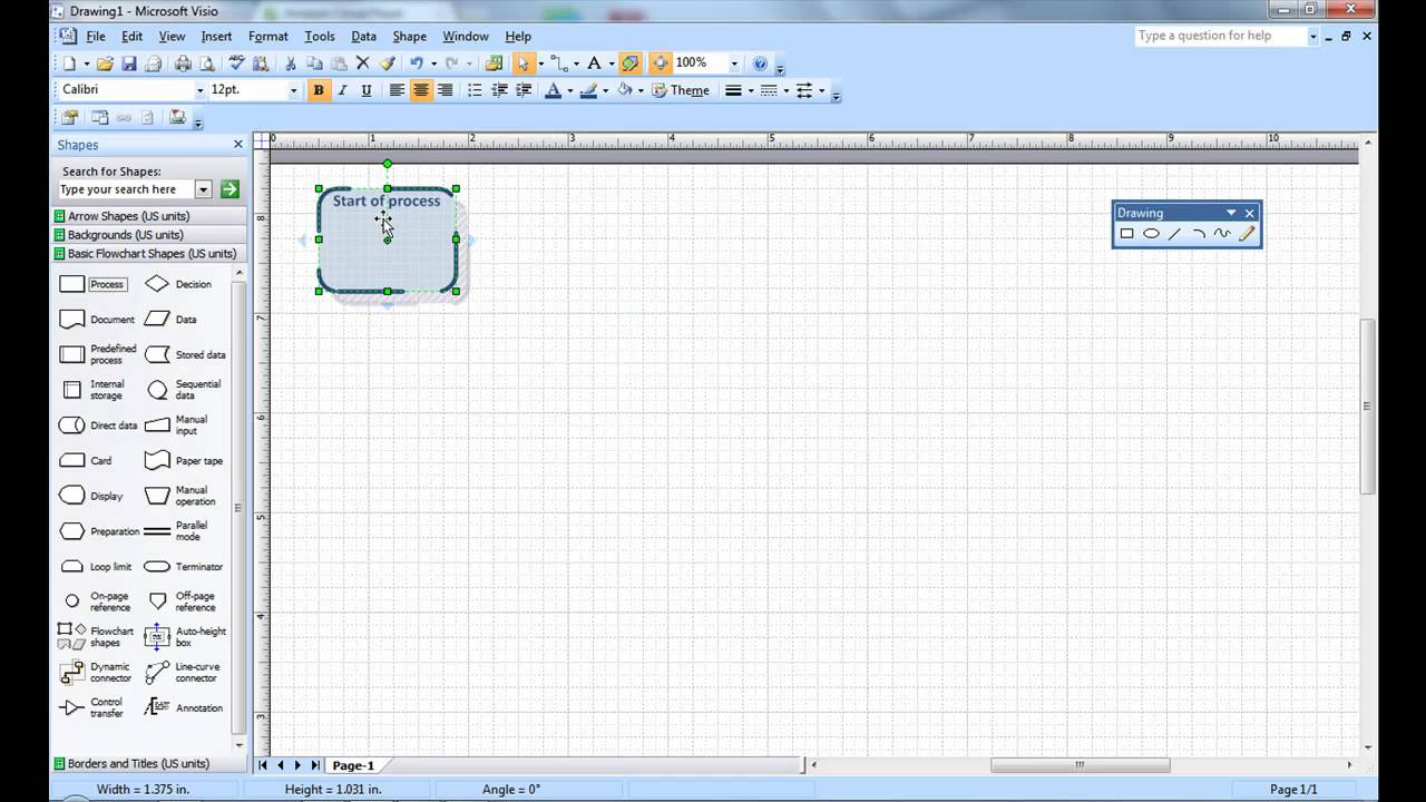 also creating  simple visio flow chart microsoft tutorial youtube rh