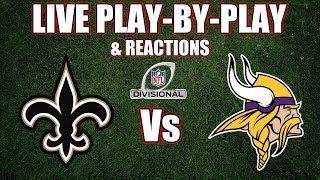 Saints vs Vikings | Live Play-By-Play & Reactions