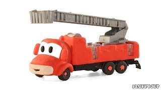 Toy Fire Engine Rescue Doggy From School toys cartoon