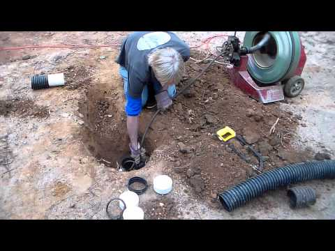 How To Find And Repair Broken French Drain Pipe - DIY