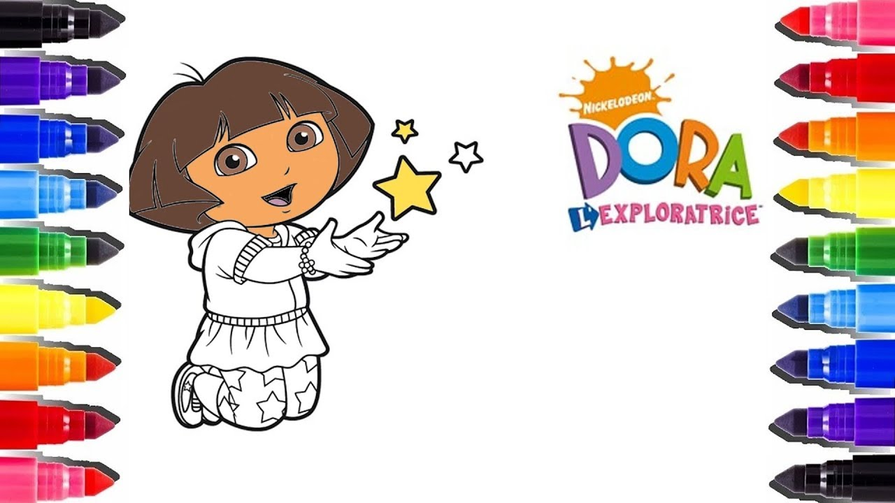 Dora L Exploratrice Coloriage Etoile Coloring Pages Dora Stars