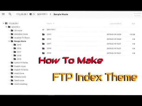 How to Make FTP Apache Index Theme h5ai Like Samonline in
