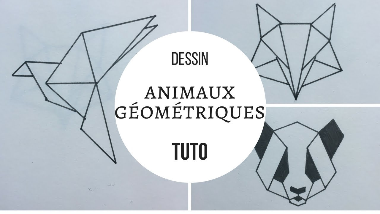 animaux g om triques tuto dessin youtube. Black Bedroom Furniture Sets. Home Design Ideas