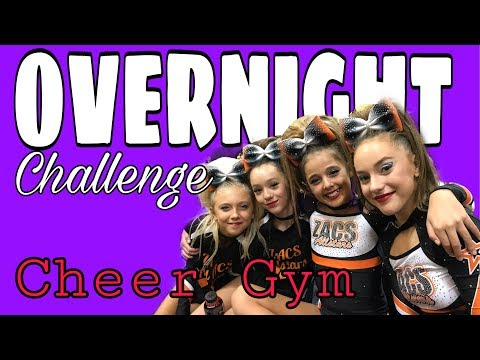 Cheerleaders OVERNIGHT Challenge at a CHEER GYM + Cheer OPEN GYM