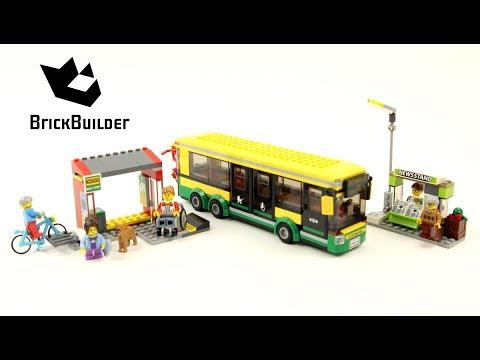 Lego City 60154 Bus Station - Lego Speed Build - YouTube