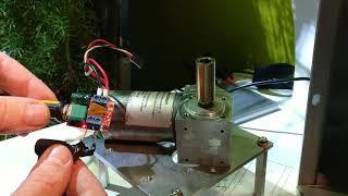 Variateur sur moteur de 18v pour la motorisation d'un moulin manuel