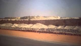 شاهد جبال الرمال الناتجة من الحفر يناير 2015 بالقطاع الاوسط