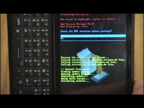 Motorola Milestone - прошивка часть 2