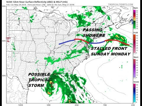 Weekend Tropical Storm Likely Gulf of Mexico Memorial Day Holiday Weekend Joe & Joe Weather Show
