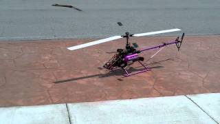 Vario Turbine Helicopter HP-5 Jetcat Start up and hover