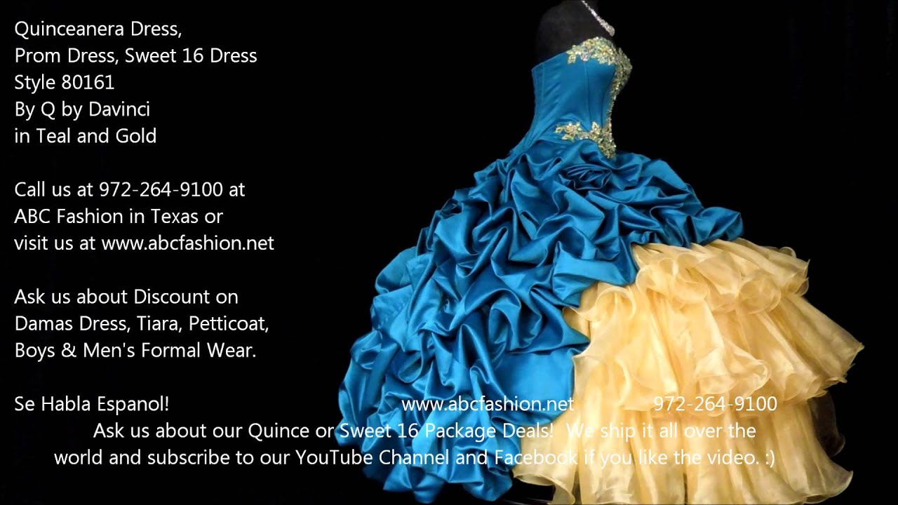 Teal Quinceanera Dresses 2013 80161 Teal & Gold ...