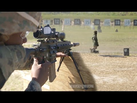 Usmc M38 Sdmr Vs Moving Robotic Targets