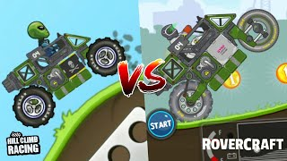 Hill Climb Racing Build Mod VS RoverCraft Build   Is It Awesome???