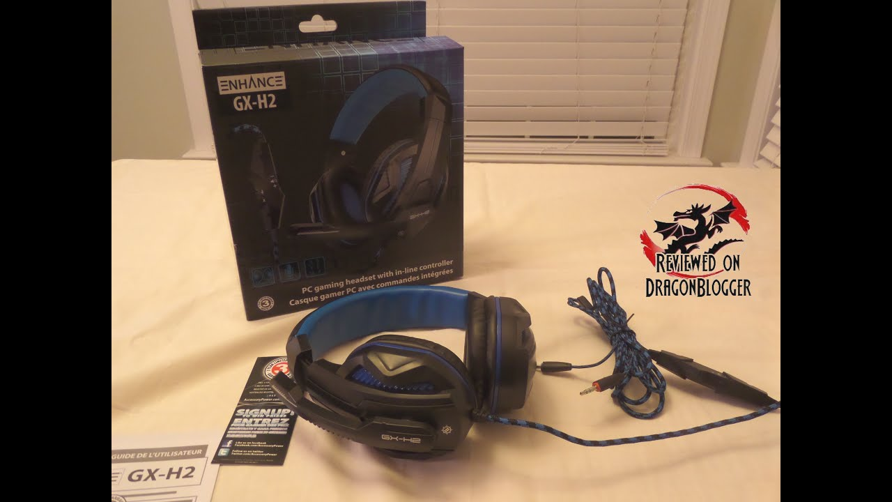 Unboxing of the ENHANCE GX-H2 Stereo Gaming Headset and Adjustable ...