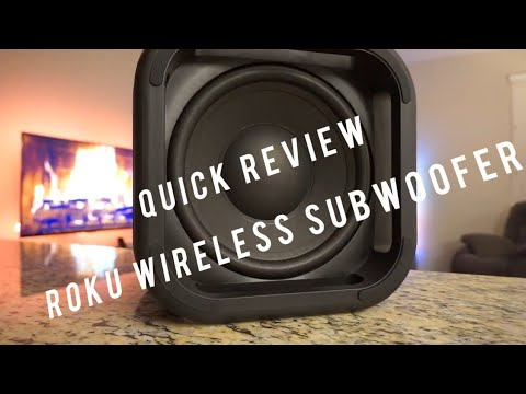 Quick review of Roku Wireless Subwoofer