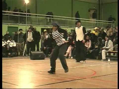 Juste Debout 2002 - Locking final - Matthias & Yann vs Gemini & LilKiss