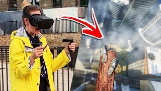 London Tourists Try Richie's Plank Experience On Oculus Quest