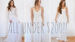 I BOUGHT FIVE WEDDING DRESSES UNDER $200