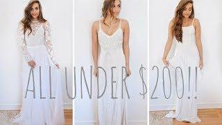 I BOUGHT FIVE WEDDING DRESSES UNDER $200