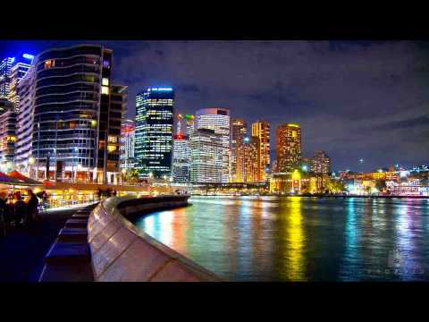 Sydney Australia Time Lapse - Didgeridoo Techno Music