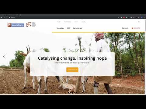 Non-profit Website Design Process - Rural Development Trust India Website