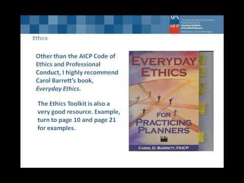 AICP Exam Review Series AICP Code of Ethics