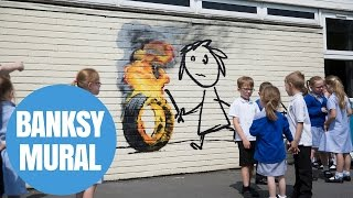 Banksy Leaves Mural On The Side Of Classroom In Bristol