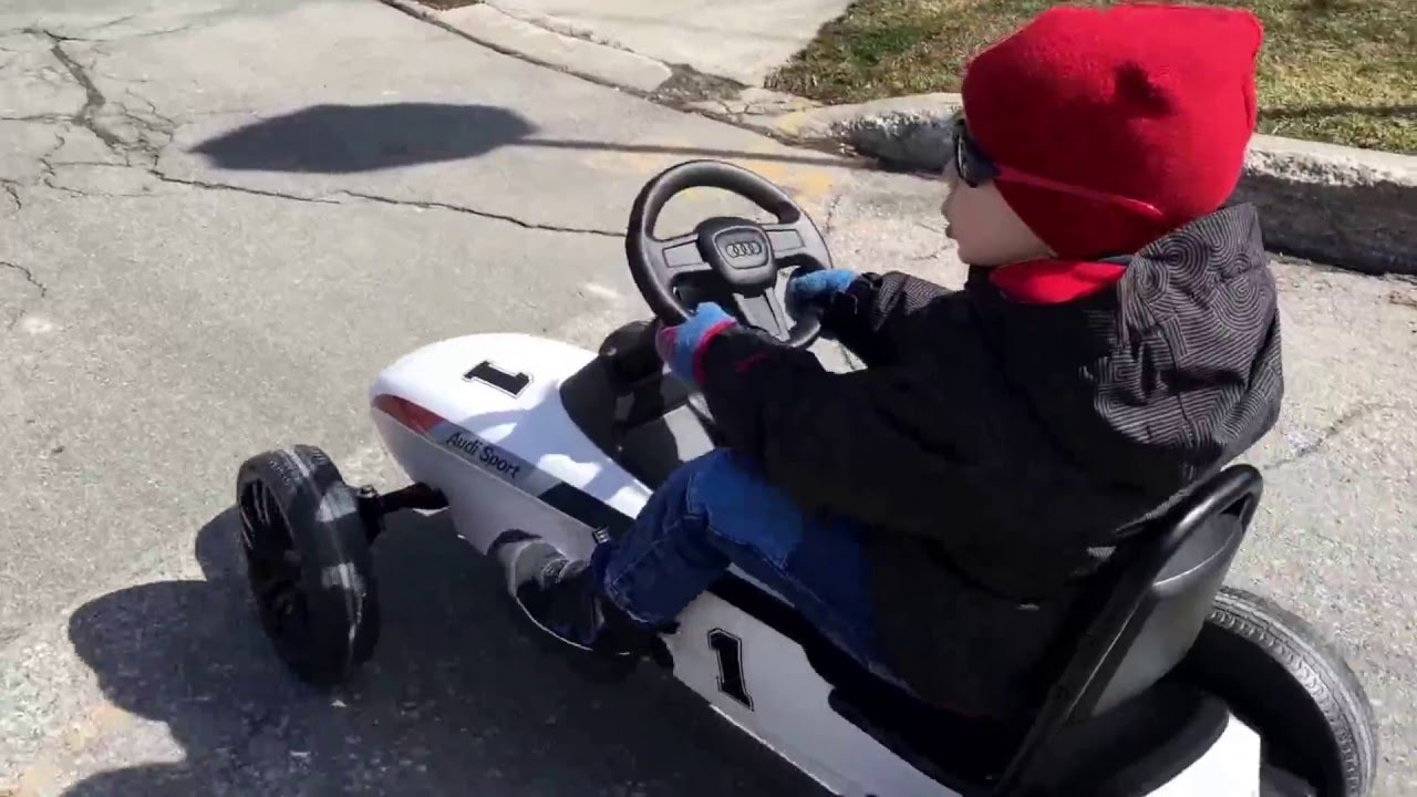 AUDI motorsports kids pedal car for kids 3 to 8 years - YouTube