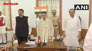 Devendra Fadnavis Takes Oath As Maharashtra CM, NCP's Ajit Pawar Is Deputy CM
