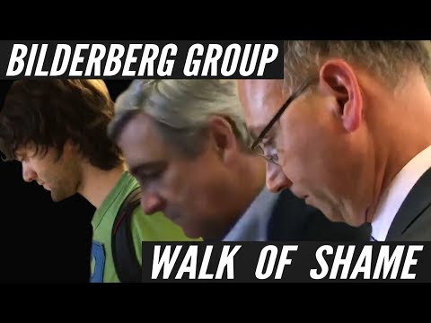 "Bilderberg Group ""NO COMMENT"" Walk Of Shame"