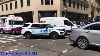 COMPILATION OF NYPD POLICE UNITS RESPONDING IN VARIOUS NEIGHBORHOODS OF NEW YORK CITY.  38